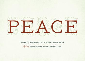 a story of peace Business Holiday Cards