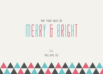 Minimalism Merry &Bright Business Holiday Cards