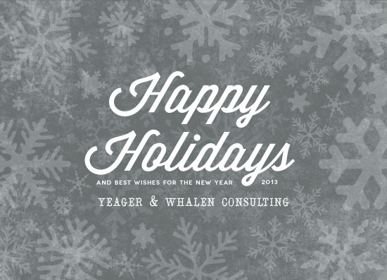 business holiday cards - Holiday Flakes by Spotted Whale Design