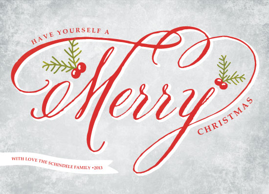 non-photo holiday cards - Merry Berry by WHALEN