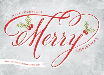 Merry Berry Non-Photo Holiday Cards