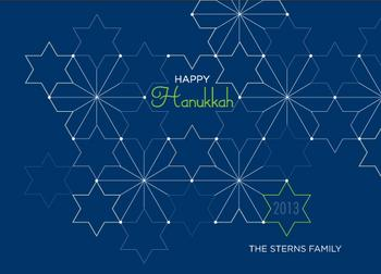 Abstract Hanukkah Non-Photo Holiday Cards