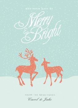 Merry, Merry, Married Non-Photo Holiday Cards