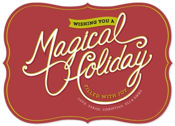Magical Holiday Full of Joy Non-Photo Holiday Cards