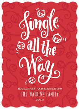 Jingle All the Way Non-Photo Holiday Cards