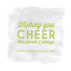 Subtle Cheer Non-Photo Holiday Cards
