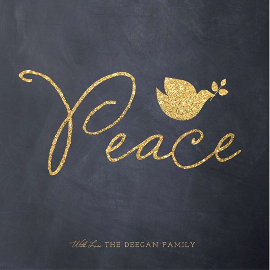 non-photo holiday cards - Glittering Peace Dove by Erin Deegan