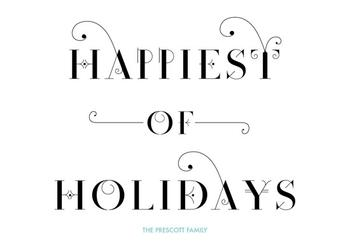 An Elegant Holiday Season Non-Photo Holiday Cards