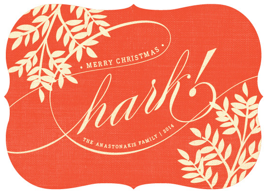 non-photo holiday cards - Antique Hark by Snow and Ivy