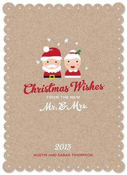Mr. & Mrs. Wishes Non-Photo Holiday Cards