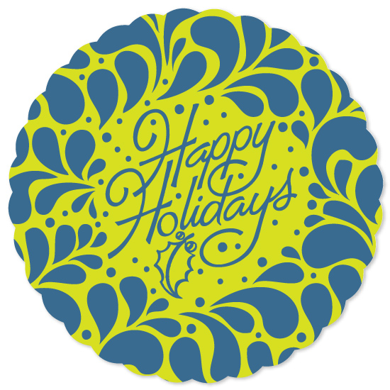 non-photo holiday cards - Holiday swirl by Anna