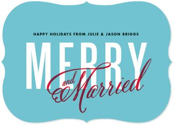 Merry and Married Non-Photo Holiday Cards
