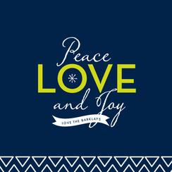 Peace Love Graphic Non-Photo Holiday Cards