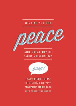 Peace Announcement Business Holiday Cards