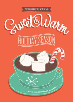 sweet + warm Non-Photo Holiday Cards