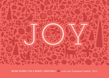 Handcut Joy Non-Photo Holiday Cards