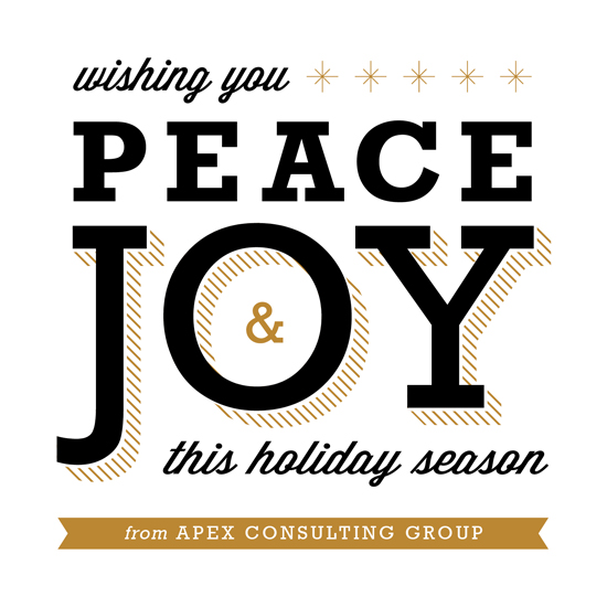 business holiday cards - Peace & Joy by Genna Cowsert