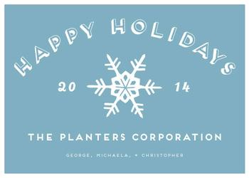 Snow Days Business Holiday Cards
