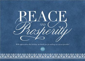 Classic Peace & Prosperity Business Holiday Cards