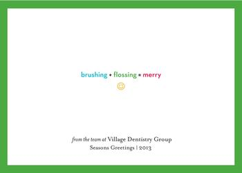 Dental Practice Equation Business Holiday Cards