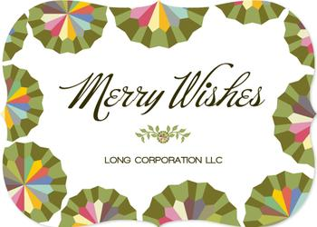 color wheels Business Holiday Cards