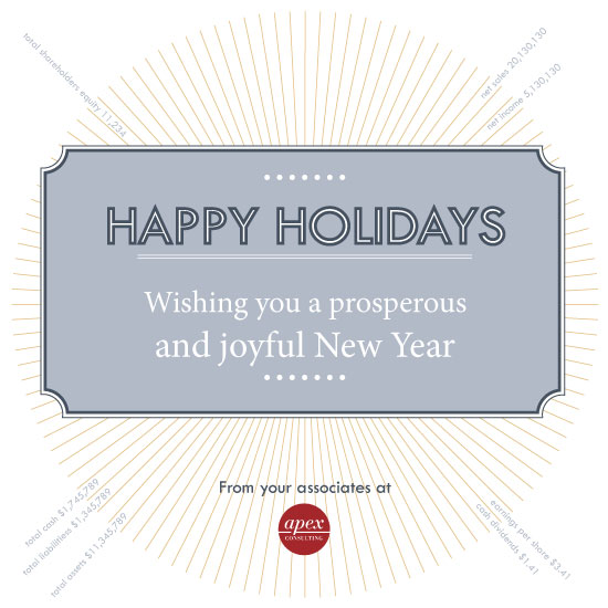 business holiday cards - Radial Stats by TeeEm