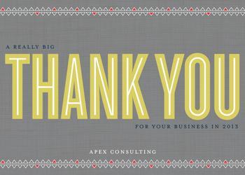 A really big thank you