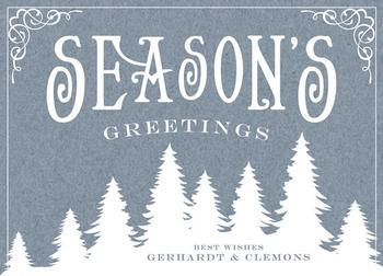 Evergreen Holiday Business Holiday Cards
