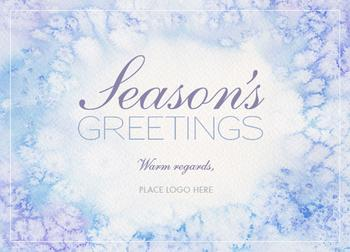 Hand-Painted Frosted Window Panes Business Holiday Cards