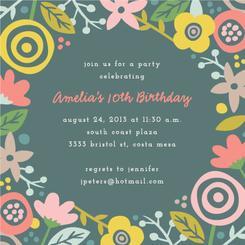 Gardenia Party Invitations