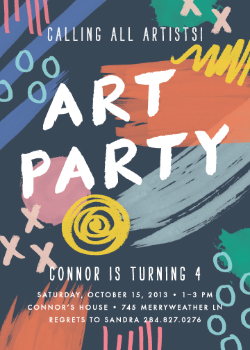 party invitations - Art Party by Amber Barkley