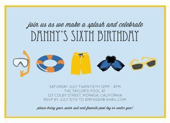 Splish Splash Party Invitations
