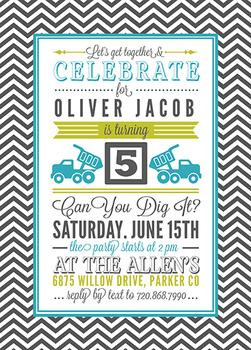 Letter Block Party Invitations