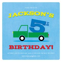 Jack's Toy Truck Party Invitations