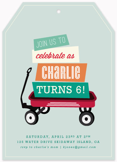 party invitations - Wagon Wheels