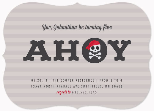 party invitations - it's a pirate's life for me