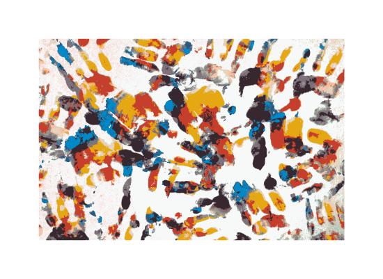 art prints - kids hand by aticnomar