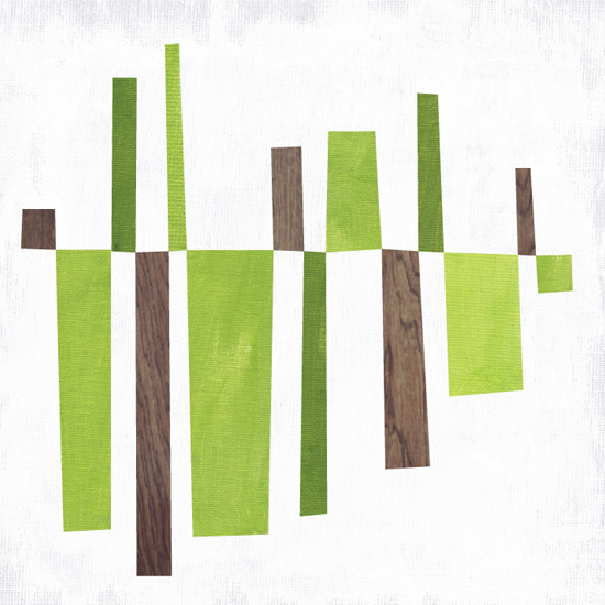 art prints - Abstract Line Balance - Green Mono by Vicky Barone