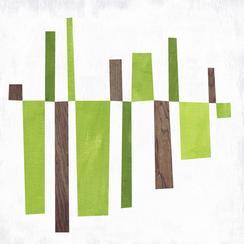 Abstract Line Balance - Green Mono