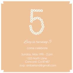 Daisy Invite Party Invitations