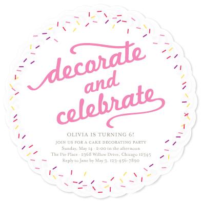 Die Cut Invitations as beautiful invitation sample