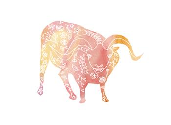 Tattooed Pink Ram Art Prints