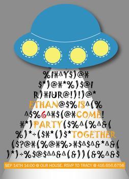 UFO birthday party