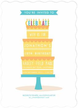 All about the Cake! Party Invitations