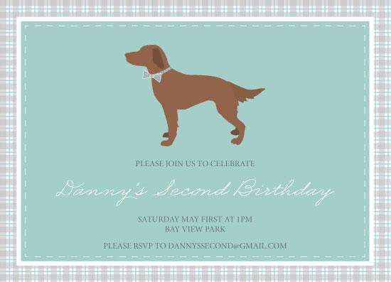 party invitations - Dapper Dog by Bright Room Studio