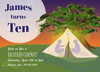 Backyard Camp out