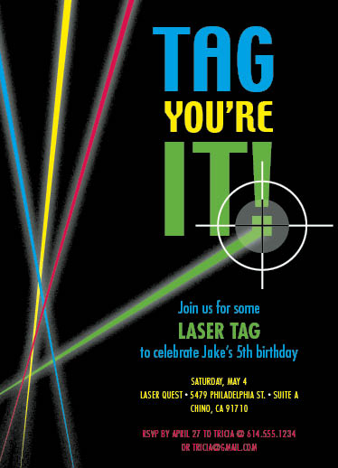 Free Laser Tag Birthday Invitations was awesome invitation sample