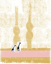 Two Giraffes Hitchhikin... by Kristine Hickcox