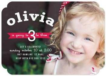 Red Banner Day Party Invitations