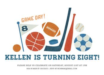 Game Day Party Invitations